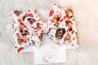 Happy Howlidays- Stretchy Liverpool/Bullet Bow Wrap- Choose Size