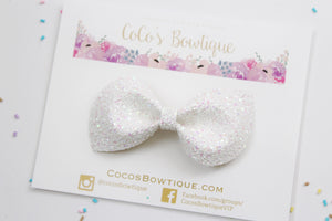 Heavenly Shimmer- Iridescent Glitter bow- Various Sizes- Holiday bows