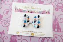 Frozen -Princess-Inspired Faux Leather/Glitter hair bow- Various Sizes