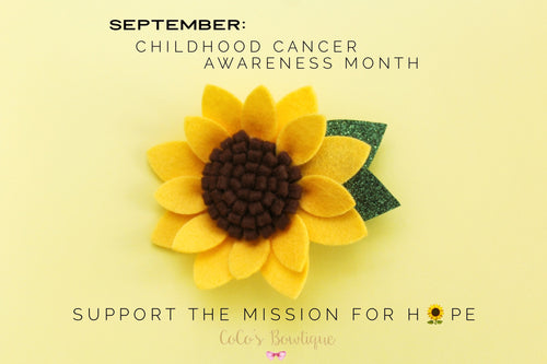 September Sunflower- 100% Felt Sunflower- Fall Bows- Childhood Cancer Awareness