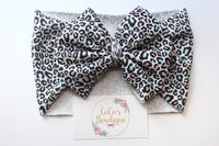 Cool Cat- Stretchy Liverpool/Bullet Bow Wrap- Choose Size