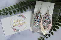 Iridescent - Layered Petals-Mermaid Collection- Handmade Earrings- Nickel Free