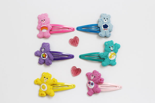 Character Clips- Care Bears-Inspired PVC Character on Snap Clips