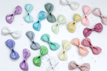 Tiffany Shimmer- Iridescent Glitter bow- Various Sizes- Holiday bows