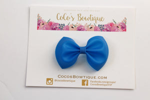 Royal Blue- Jelly/Pool bows- Various Sizes