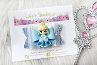 Princess Cinderella- Disney Princess-Inspired Clay Center Bow- one size