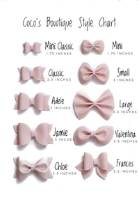 Treasure Trove- Glitter/Stone Hair Bow- Various Sizes