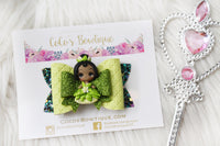 Princess Tiana- Disney Princess-Inspired Clay Center Bow- one size