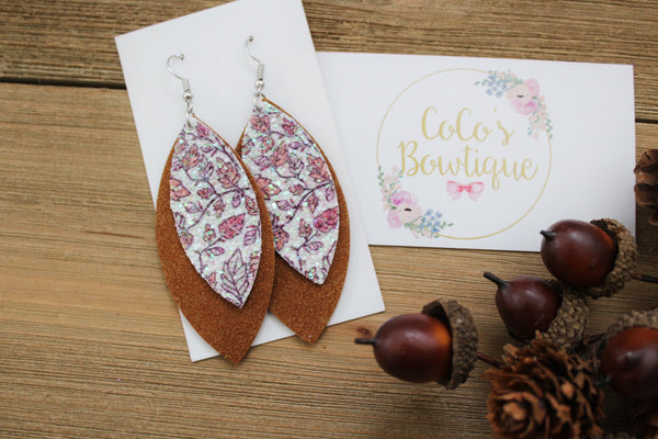 Falling Leaves- Layered Petals- Handmade Earrings- Nickel Free