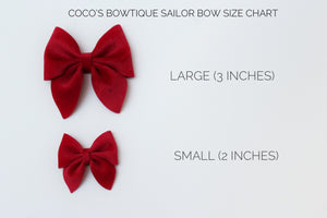 Smoldering Embers- Chunky Glitter Bow- Fall Hair bows- Various Sizes