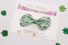 Eden - Green Chunky Glitter Hair Bow- Various Sizes