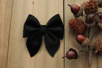 Black- Velvet Hair Bows-Various Sizes- Fall Hair Bows