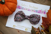 Autumn Treasures- Holographic Glitter Bow- Fall Hair bows- Various Sizes