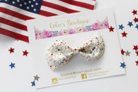 'Merica- glitter hair bow- Various Sizes