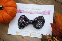 Jewel Box- Chunky Glitter Bow- Fall Hair bows- Various Sizes