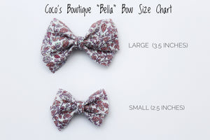 Halloween Polka Dots Bella Bow- 2 sizes- Halloween Hair Bows