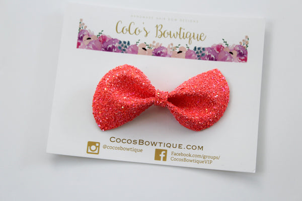 Mercury Rising- Neon Glitter hair bow- Various Sizes