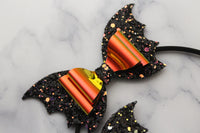 Fright Night- Halloween Bat-Inspired Headband- Satin-lined Metal headband