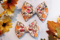 Pink Peek-a-Blooms- Stretchy Liverpool/Bullet Bows- Choose Size