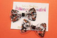 Tricks & Treats - Halloween-Inspired Clay Sprinkles Shaker Bow- Pigtail Set or Single Bow