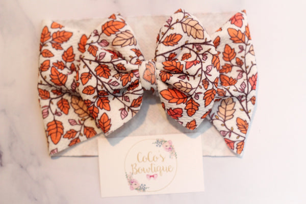 Falling Leaves- Stretchy Liverpool/Bullet Bow Wrap- Choose Size