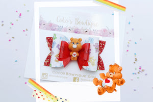 Tenderheart Bear- Care Bears-Inspired Clay Center Bow- Limited Edition