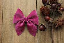 Orchid- Velvet Hair Bows-Various Sizes- Fall Hair Bows