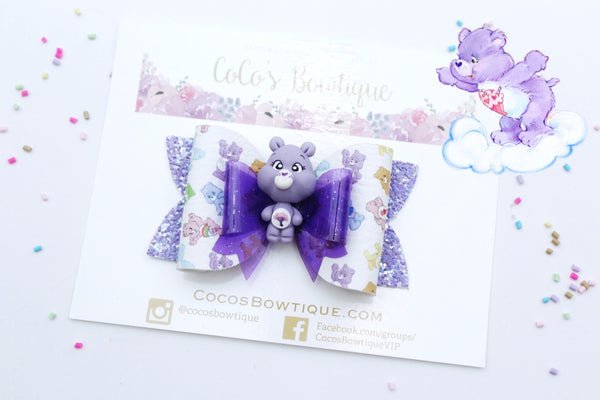Share Bear- Care Bears-Inspired Clay Center Bow- Limited Edition
