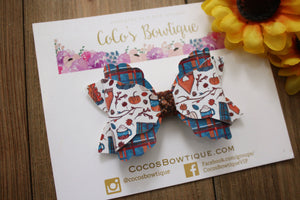 Cuddle Season- Arielle-Style Bow- Faux Leather/glitter hair bow- 2 sizes