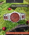 Maroon Steel Edition-Oliver Redmont Timepieces