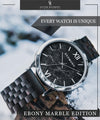 Ebony Marble Edition-Oliver Redmont Timepieces