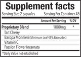 Keep Calm-Supplement Facts