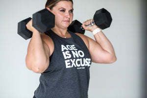 No Excuses Crop Tank - Grey