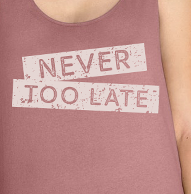 Never Too Late Athena Tank