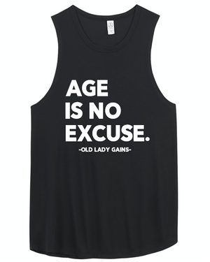 No Excuses Muscle Tank - Black