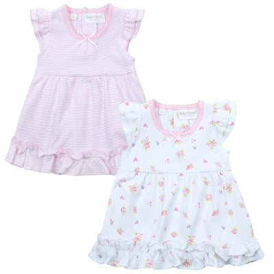 Baby Town 2 Pack Ditsy Bunny Bodysuit Dresses | Millie and John