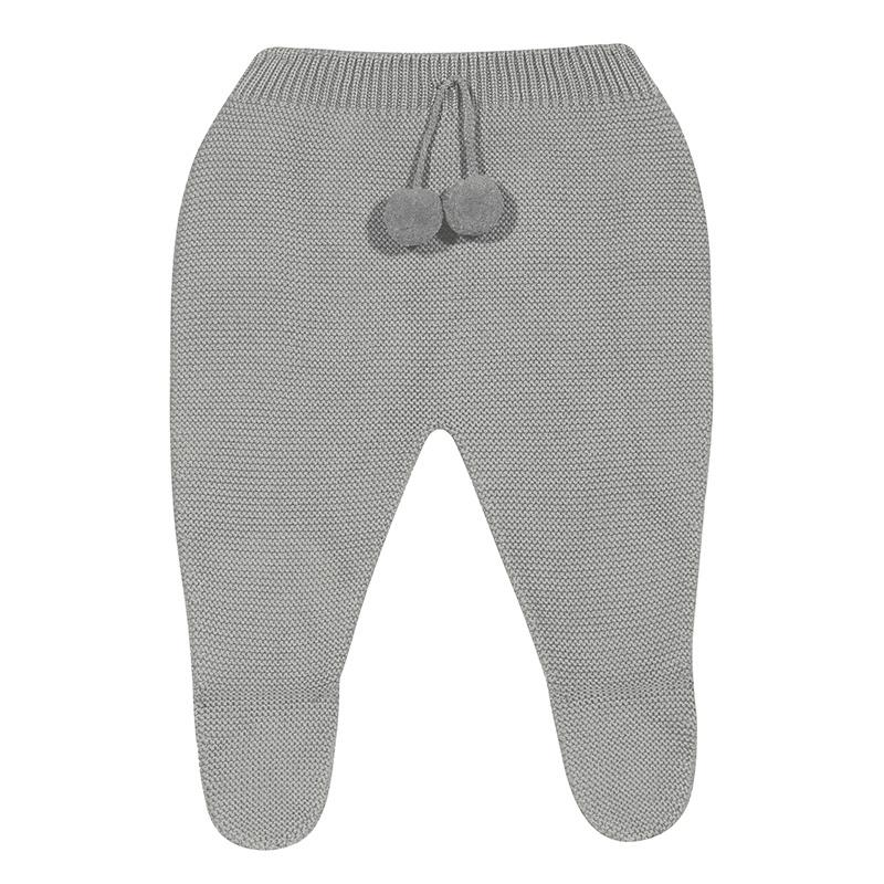Condor Aluminium Grey Knitted Pom Pom Leggings | Millie and John