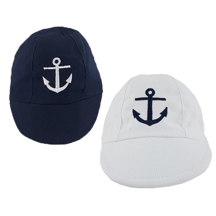 Pesci Baby Anchor Embroidered Cap | Millie and John