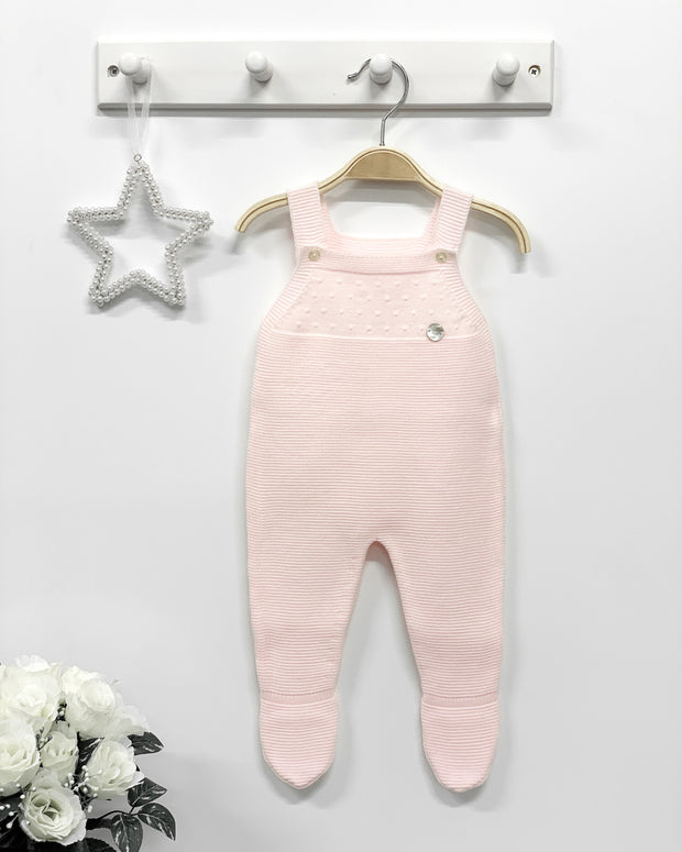 Granlei BABY | Baby Pink Knitted Dungaree | Millie and John