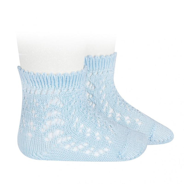 Condor Baby Blue Ankle Openwork Socks | Millie and John