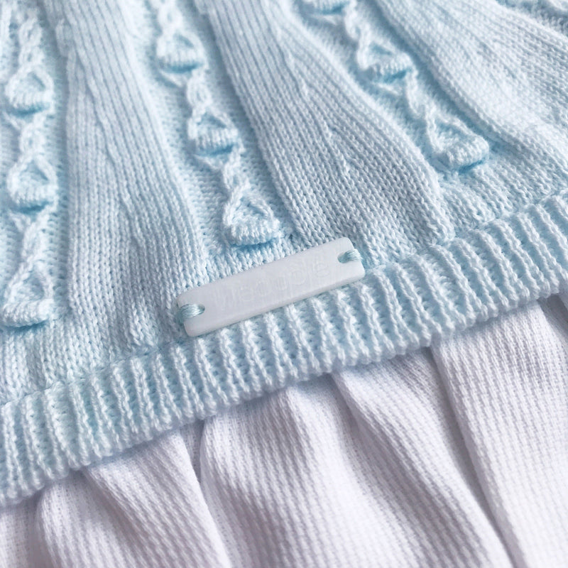 Wedoble Baby Blue Half Knit Romper | Millie and John