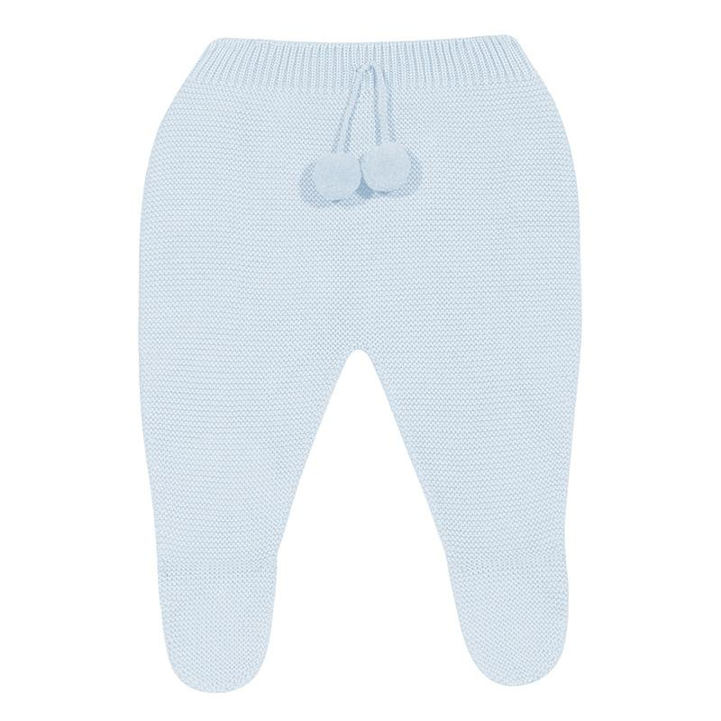 Condor Baby Blue Knitted Pom Pom Leggings | Millie and John