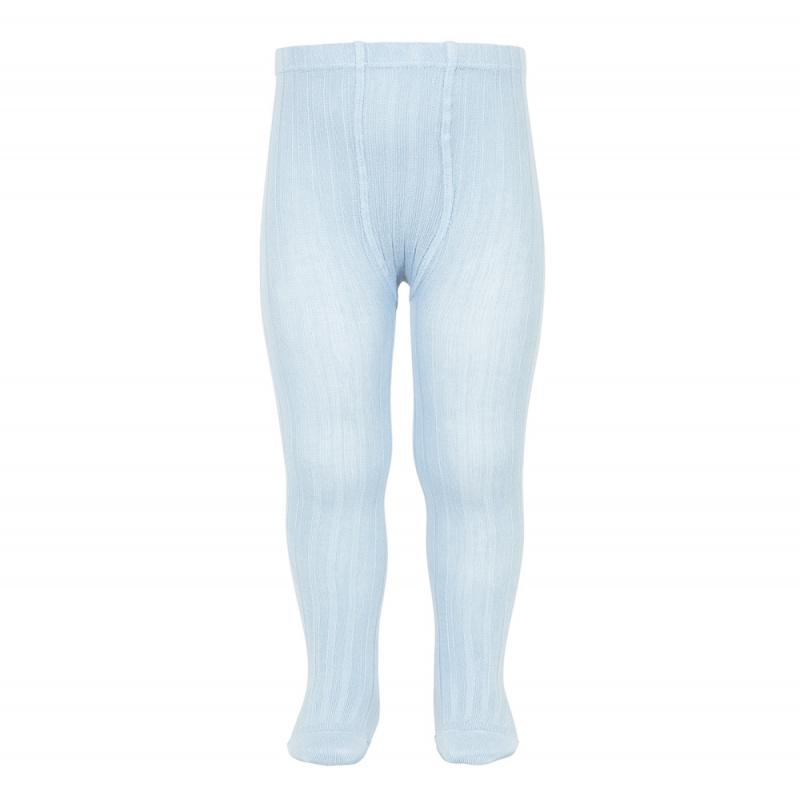 Condor Baby Blue Ribbed Tights | Millie and John