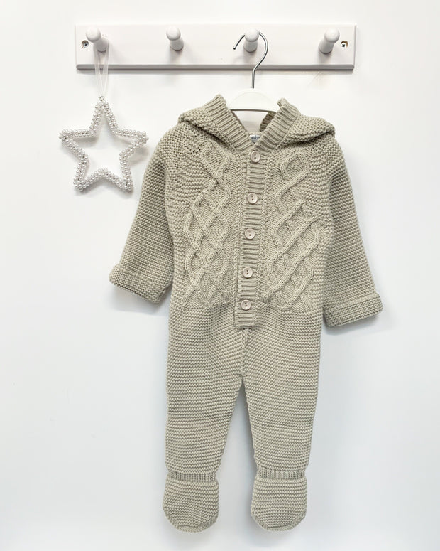 Nico Dingo BABY | Stone Knitted Pom Pom Pramsuit | Millie and John
