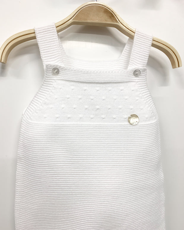 Granlei BABY | White Knitted Dungaree | Millie and John
