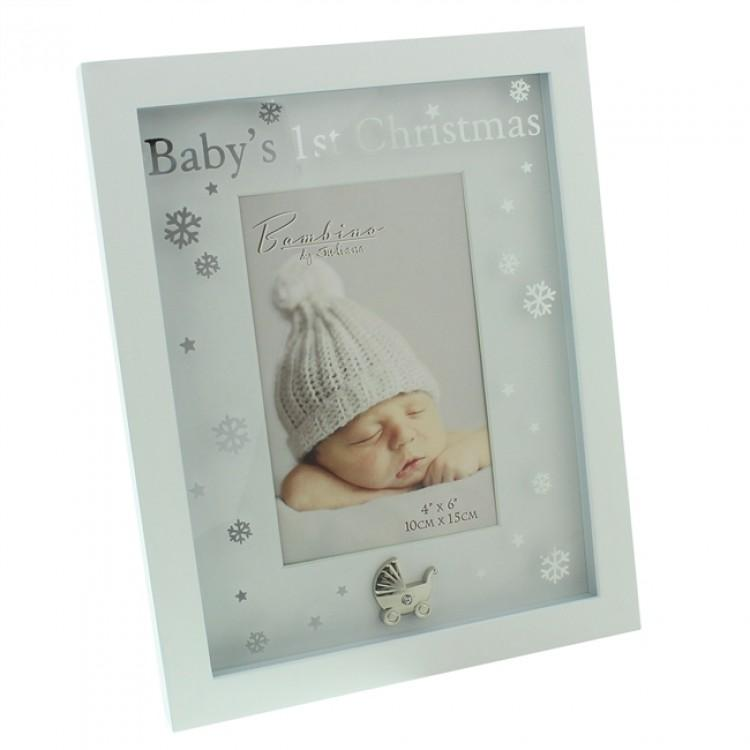 "Bambino ""Baby's 1st Christmas"" Photo Frame 