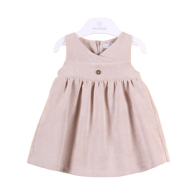 Wedoble Beige Needle Cord Dress | Millie and John