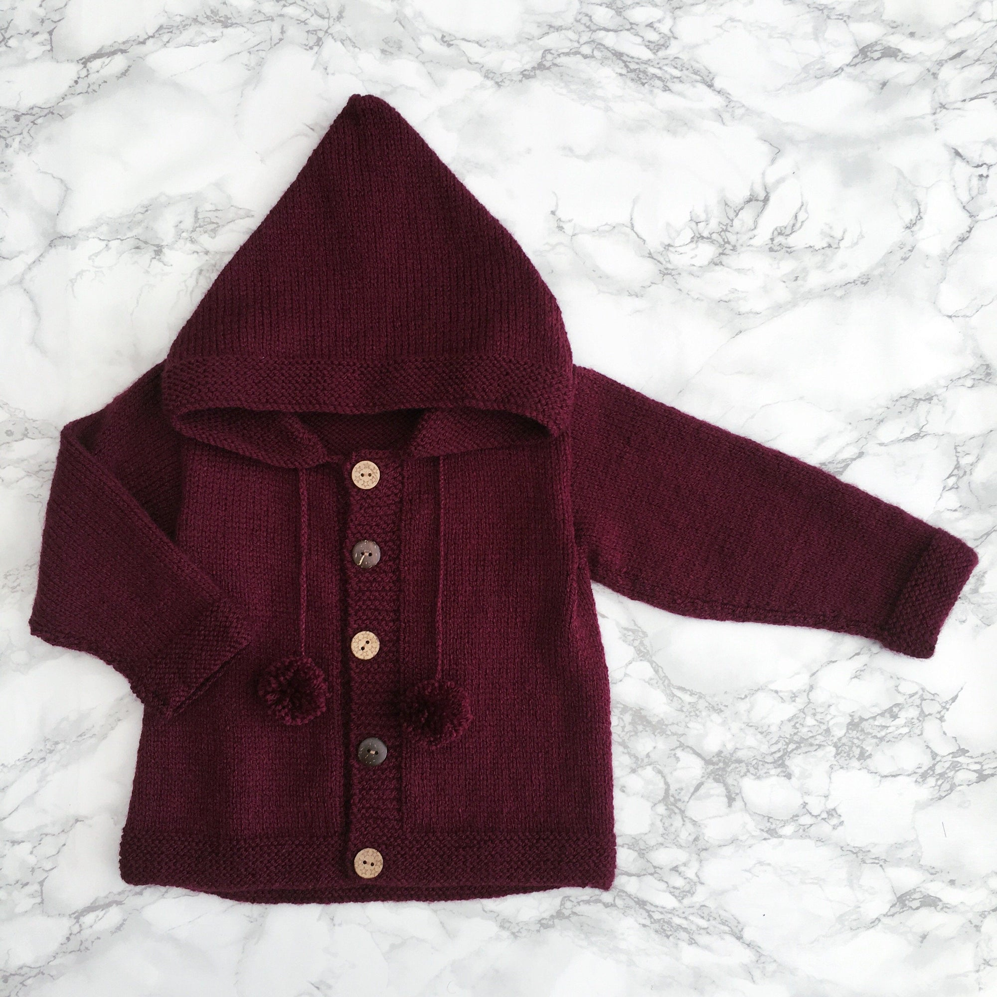 Millie and John Bespoke Bespoke Burgundy Hoodie | Millie and John