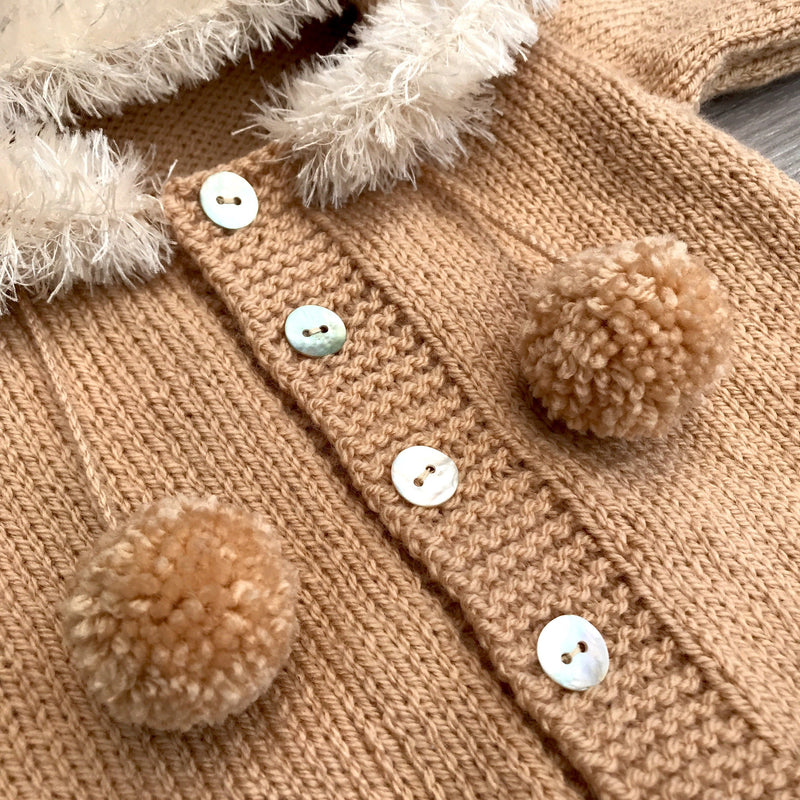 Millie and John Bespoke Bespoke Camel Faux Fur Hoodie | Millie and John