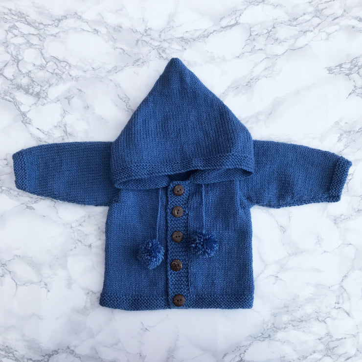 Millie and John Bespoke Bespoke Denim Blue Hoodie | Millie and John